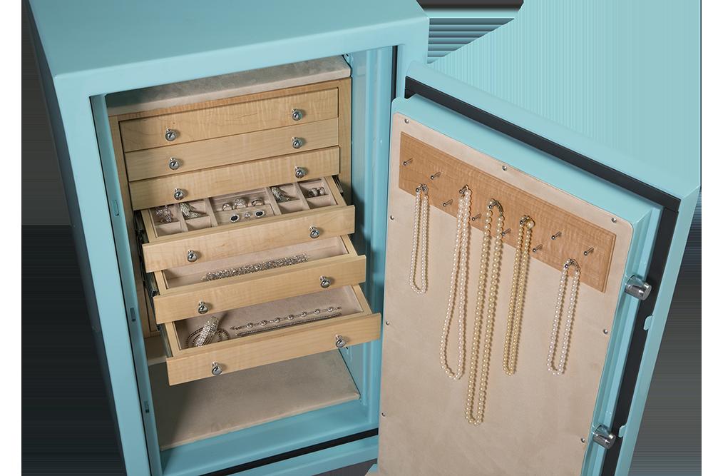 jewelry box blue jewelry safe