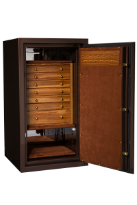 Brown Jewelry Safe