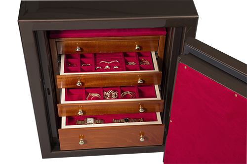 Jewelry Safe With Drawers